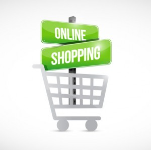 shopping cart online shopping sign illustration