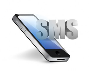 sms phone message concept illustration