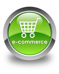 Ecommerce glossy green round button